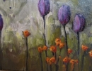 'Four Purple Tulips' and is 12x16 -$260