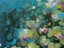 water garden mixed media jill van sickle painting