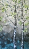 Two Birches painting jill van sickle